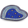 9-inch Stoneware Heart Shaped Platter - Polmedia Polish Pottery H4813G