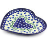 9-inch Stoneware Heart Shaped Platter - Polmedia Polish Pottery H5024G