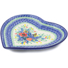 9-inch Stoneware Heart Shaped Platter - Polmedia Polish Pottery H5599I