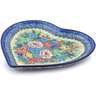 9-inch Stoneware Heart Shaped Platter - Polmedia Polish Pottery H5601I