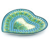 9-inch Stoneware Heart Shaped Platter - Polmedia Polish Pottery H6591G