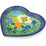 9-inch Stoneware Heart Shaped Platter - Polmedia Polish Pottery H6938G