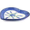 9-inch Stoneware Heart Shaped Platter - Polmedia Polish Pottery H9127B