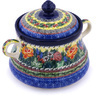 9-inch Stoneware Jar with Lid and Handles - Polmedia Polish Pottery H0173G