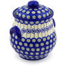 9-inch Stoneware Jar with Lid and Handles - Polmedia Polish Pottery H0948F