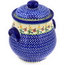9-inch Stoneware Jar with Lid and Handles - Polmedia Polish Pottery H3553E