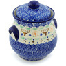 9-inch Stoneware Jar with Lid and Handles - Polmedia Polish Pottery H8223H