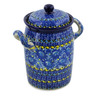 9-inch Stoneware Jar with Lid and Handles - Polmedia Polish Pottery H8548J