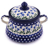 9-inch Stoneware Jar with Lid and Handles - Polmedia Polish Pottery H9193G