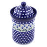 9-inch Stoneware Jar with Lid - Polmedia Polish Pottery H1217B