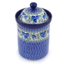 9-inch Stoneware Jar with Lid - Polmedia Polish Pottery H2381J