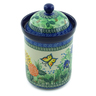 9-inch Stoneware Jar with Lid - Polmedia Polish Pottery H2877C