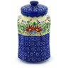 9-inch Stoneware Jar with Lid - Polmedia Polish Pottery H3449F