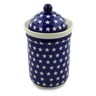 9-inch Stoneware Jar with Lid - Polmedia Polish Pottery H5209C