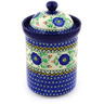 9-inch Stoneware Jar with Lid - Polmedia Polish Pottery H5584E