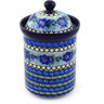 9-inch Stoneware Jar with Lid - Polmedia Polish Pottery H5585E