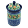 9-inch Stoneware Jar with Lid - Polmedia Polish Pottery H6156A