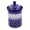 9-inch Stoneware Jar with Lid - Polmedia Polish Pottery H7761B