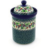 9-inch Stoneware Jar with Lid - Polmedia Polish Pottery H7819E