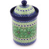 9-inch Stoneware Jar with Lid - Polmedia Polish Pottery H8293G