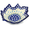 9-inch Stoneware Leaf Shaped Bowl - Polmedia Polish Pottery H1289H