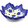 9-inch Stoneware Leaf Shaped Bowl - Polmedia Polish Pottery H1380F
