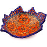 9-inch Stoneware Leaf Shaped Bowl - Polmedia Polish Pottery H1788F