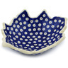 9-inch Stoneware Leaf Shaped Bowl - Polmedia Polish Pottery H8137G
