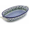 9-inch Stoneware Oval Baker with Handles - Polmedia Polish Pottery H7165B