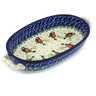 9-inch Stoneware Oval Baker with Handles - Polmedia Polish Pottery H7704G