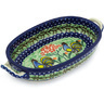 9-inch Stoneware Oval Baker with Handles - Polmedia Polish Pottery H9153G