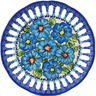 9-inch Stoneware Plate with Holes - Polmedia Polish Pottery H0760H