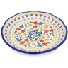 9-inch Stoneware Plate with Holes - Polmedia Polish Pottery H2652J