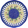 9-inch Stoneware Plate with Holes - Polmedia Polish Pottery H3763E