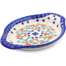 9-inch Stoneware Platter with Handles - Polmedia Polish Pottery H2239J