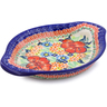9-inch Stoneware Platter with Handles - Polmedia Polish Pottery H2240J