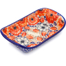 9-inch Stoneware Platter with Handles - Polmedia Polish Pottery H2724J