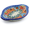 9-inch Stoneware Platter with Handles - Polmedia Polish Pottery H4011J