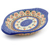 9-inch Stoneware Platter with Handles - Polmedia Polish Pottery H4209J