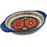 9-inch Stoneware Platter with Handles - Polmedia Polish Pottery H5414I