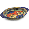 9-inch Stoneware Platter with Handles - Polmedia Polish Pottery H5415I