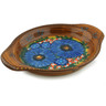 9-inch Stoneware Platter with Handles - Polmedia Polish Pottery H5416I