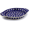 9-inch Stoneware Platter with Handles - Polmedia Polish Pottery H6542J