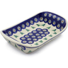 9-inch Stoneware Platter with Handles - Polmedia Polish Pottery H8769E