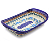 9-inch Stoneware Platter with Handles - Polmedia Polish Pottery H9189I