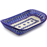 9-inch Stoneware Platter with Handles - Polmedia Polish Pottery H9909I