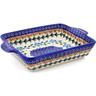 9-inch Stoneware Rectangular Baker with Handles - Polmedia Polish Pottery H0199K