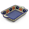 9-inch Stoneware Rectangular Baker with Handles - Polmedia Polish Pottery H4070J