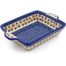 9-inch Stoneware Rectangular Baker with Handles - Polmedia Polish Pottery H4176J