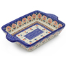 9-inch Stoneware Rectangular Baker with Handles - Polmedia Polish Pottery H4248J